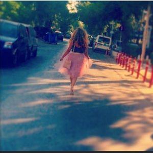Dresses & Skirts - Pink Tulle High Waisted Skirt
